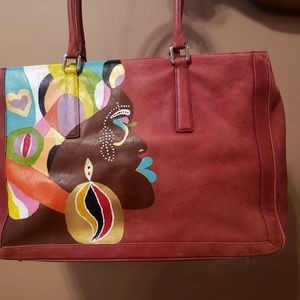 One of a kind, hand painted Coach purse